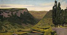 The Ardèche hills in Gras