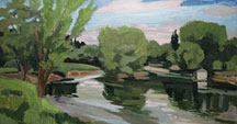 The Marne in Chelles in summertime
