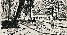 The Chelles park in wintertime